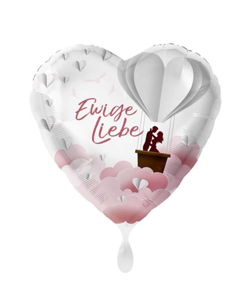 Herz Hochzeit Ewige Liebe Folienballon Luftballon