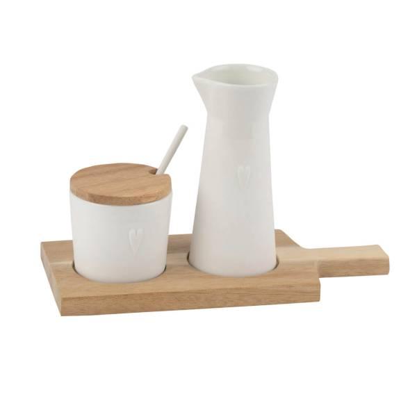 Holz Servierset Kleine Freunde Räder Design