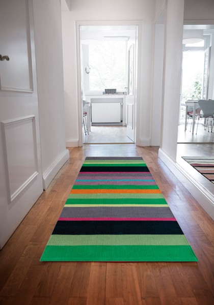 Teppichläufer Kiwi grün 250 x 80 cm REMEMBER