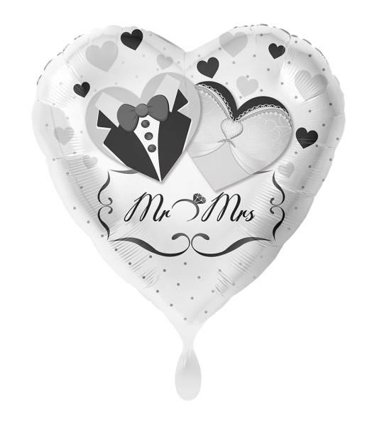 XXL Herz MR und MRS Folienballon Luftballon