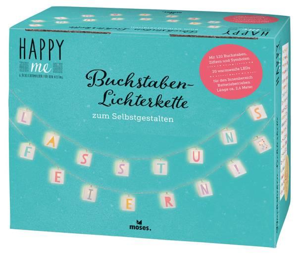 Lichterkette Happy Me Buchstaben Moses Verlag