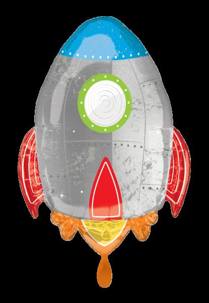 Weltraum Rakete Kinder Folienballon Luftballon
