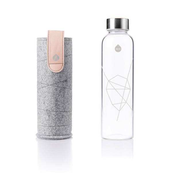 EQUA Design Trinkflasche Mismatch Pink Filzhülle