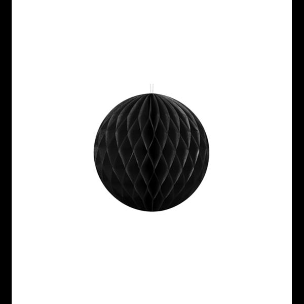 Wabenball Mini schwarz 10cm Partydeko