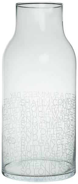 Glasvase Shakespeare Summer's Day,Ø 22,5 cm Räder Design