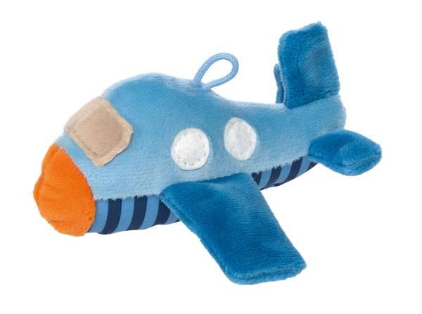 Greifling Flugzeug blau Rassel Anhänger Sigikid