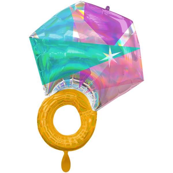 Diamant Hochzeit XL Folienballon Luftballon