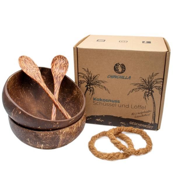 Müslischalen Kokosnuss 2er Set Coconut Bowls Chinchilla