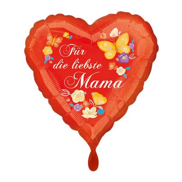 Herz rot Liebste Mama Folienballon Luftballon