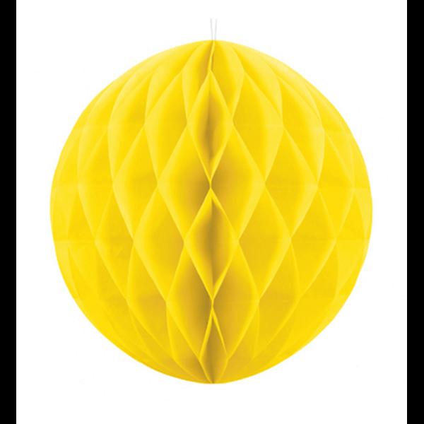 Wabenball XXL gelb 30cm Partydeko