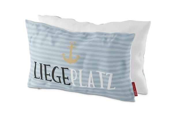 Deko Kissen Maritime Spruch Liegeplatz