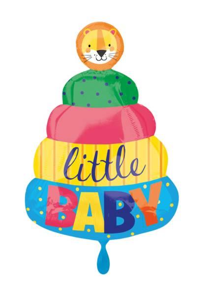 Torte Geburt Junge little Baby Folienballon Luftballon