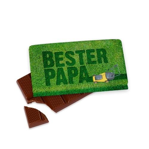 """40gr. Schokolade """"Bester Papa"""" Geschenk für Dich"""