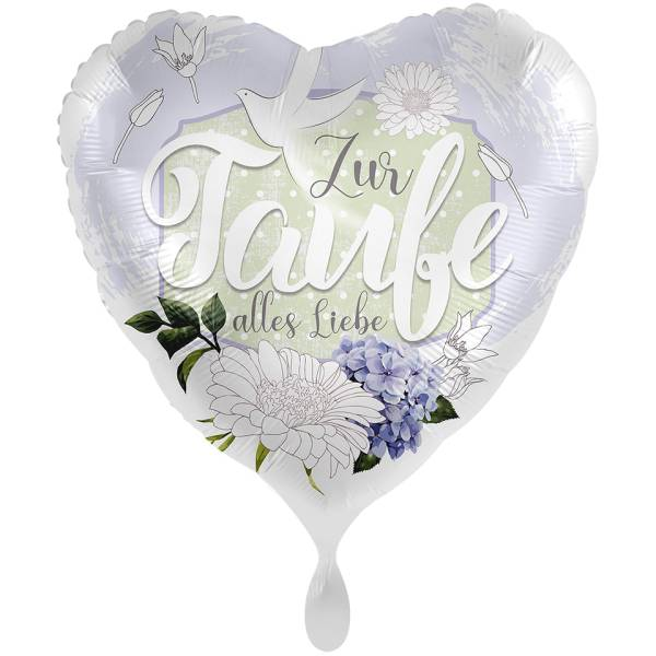 XL Herz Zur Taufe alles Liebe Folienballon