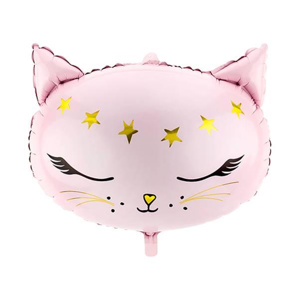 XL Folienballon Glossy Cat Katze rosa Geburtstag