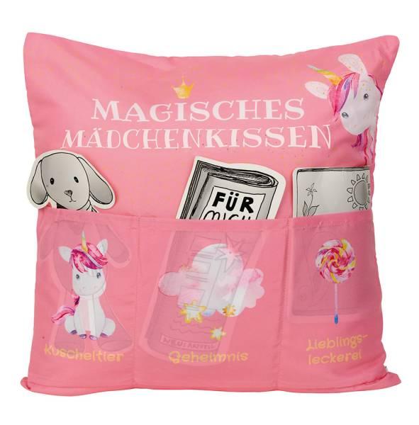 Magisches Mädchen Einhorn Kissen 43x43 Geschenk Hergo