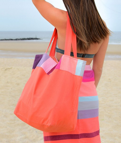 Coral Beach Bag Strandtasche Baumwolle REMEMBER