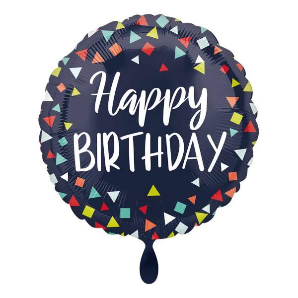 Folienballon Happy Birthday Classic blau 43cm Luftballon