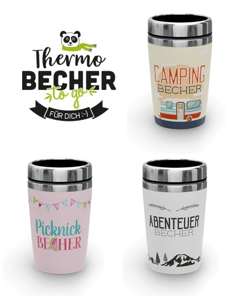 Thermobecher 2go Camping Abenteuer Picknick LaVida