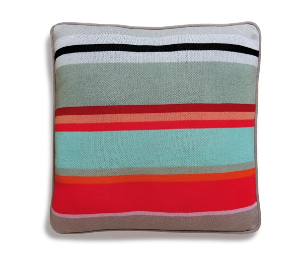 Strick-Baumwollkissen Stripe 50x50 cm REMEMBER