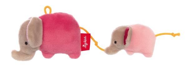Greifling Elefant rosa Rassel Anhänger Sigikid