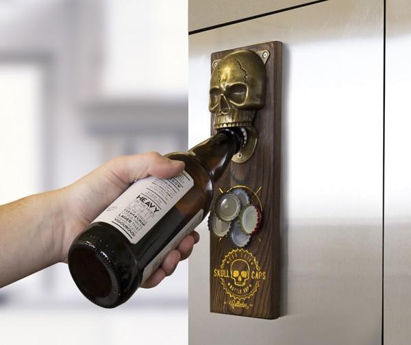 Flaschöffner Magnetisch Skull Totenkopf Gift Republic