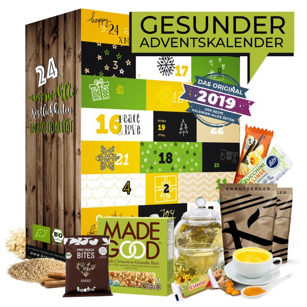 Adventskalender 24 gesunde Leckereien Superfoods Vitaminbomben kleine Snacks