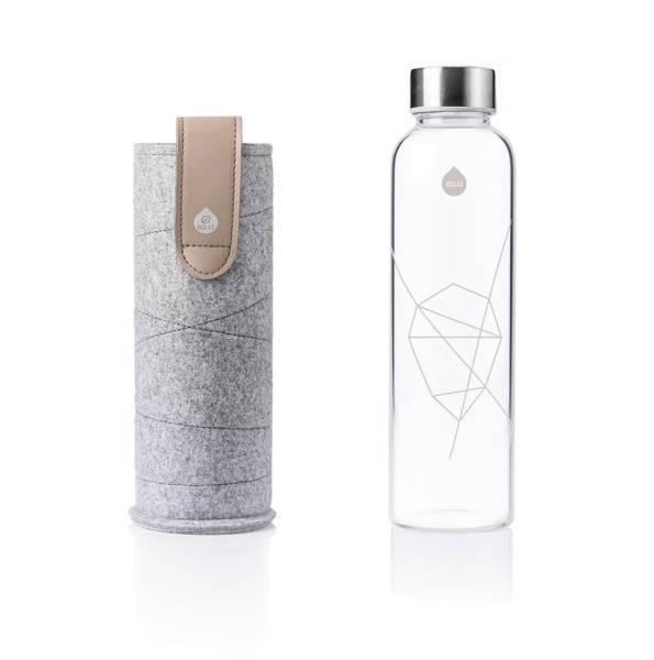 EQUA Design Trinkflasche Mismatch Sandy Sky Filzhülle