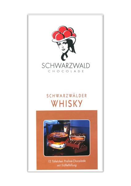 Whisky Zartbitterschokolade 100g Praline Schwarzwald Chocolade
