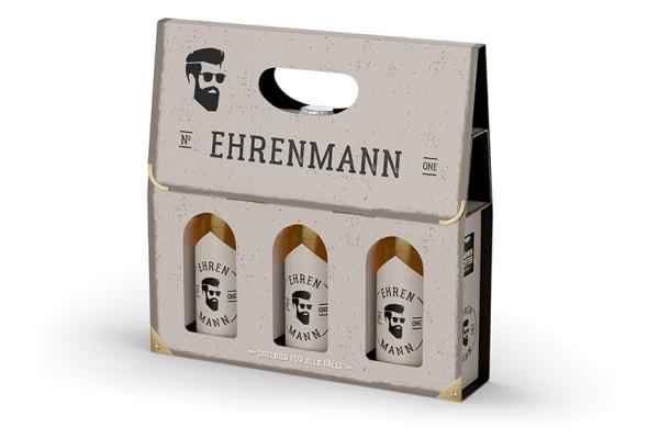 Ehrenmann Biergeschenkbox 3x Pils Männergeschenk LaVida