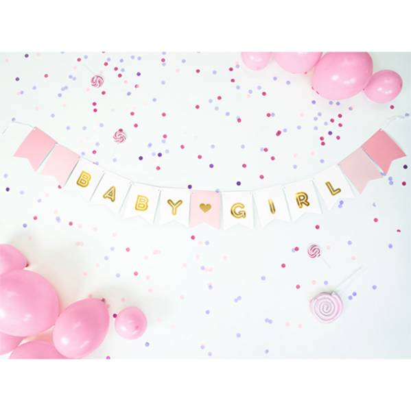 Girlande Baby Girl rosa Geburt 1,4m Partydekoration