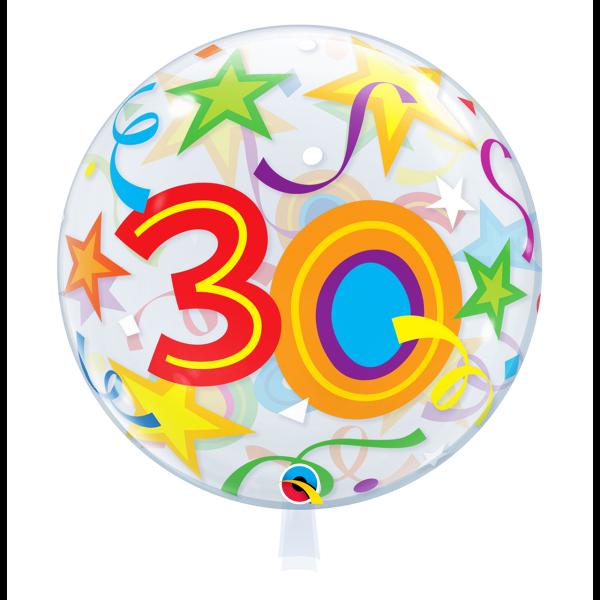 Bubble Ballon Zahl 30 Geburtstag Luftballon