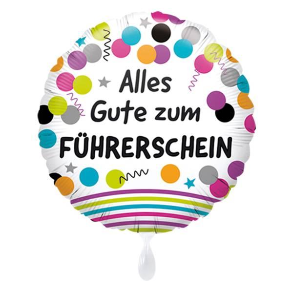 Führerschein Auto Alles Gute 43cm Luftballon