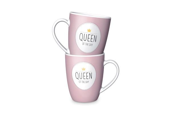 Tasse Queen of the Day Porzellan Becher LaVida