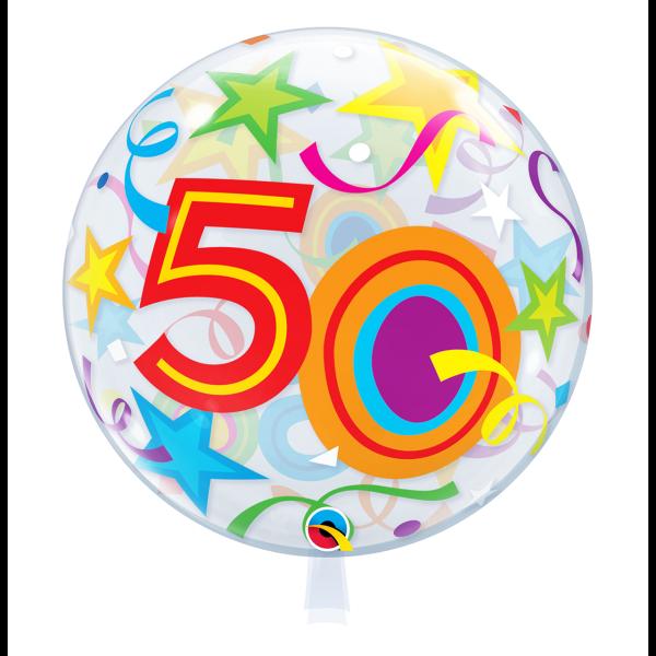 Bubble Ballon Zahl 50 Geburtstag Luftballon