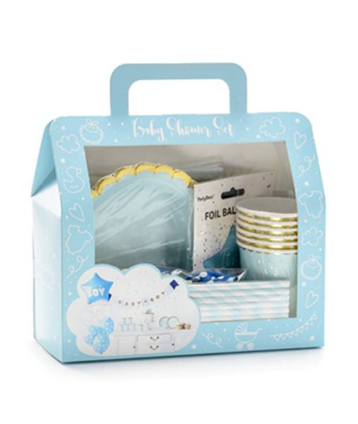 Dekoration Set blau Boy Junge Baby Party Box