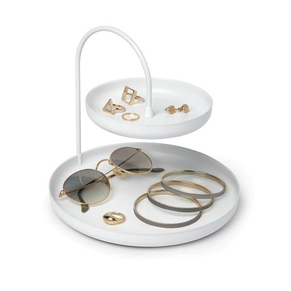 Poise Ablageschale Schmuck Accessoires Metall weiß Umbra
