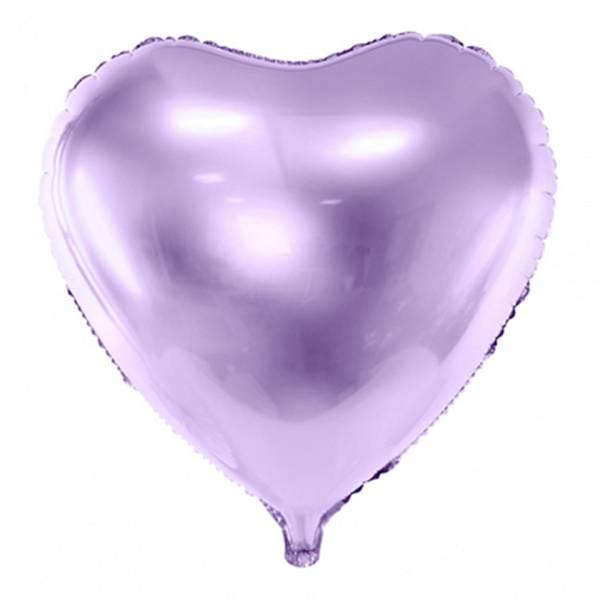 XL Herz Lavendel lila D61 cm Luftballon
